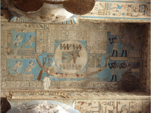 Ceiling incscription of they Hypostle Hall at Denderah, Egypt by Hannah Pethen
