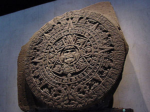 Original Aztec Stone of the Sun on display in ...